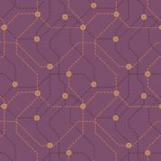 Lewis & Irene - City Nights - 6031 - Purple & Copper Map (Metallic) - A293.3 - Cotton Fabric